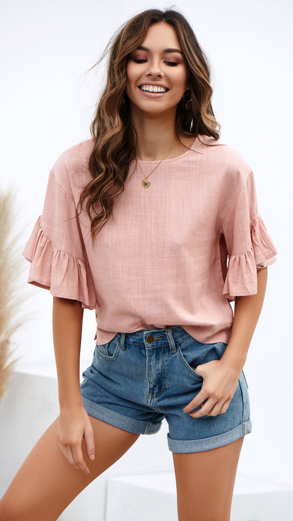 Ocean Eyes Top - Blush