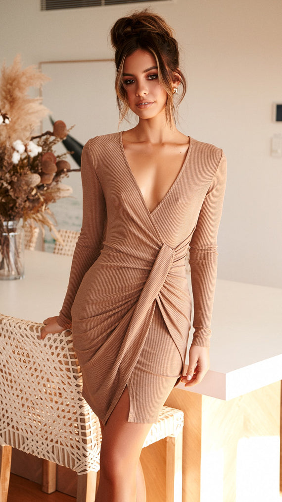 Teddi Knit dress - Mocha