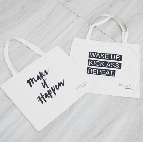 Wake Up. Kick Ass. Repeat. Tote