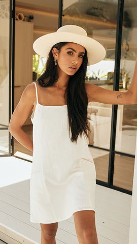 Pasadena Cami Dress - White