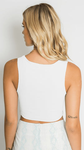 Bellflower Top - White