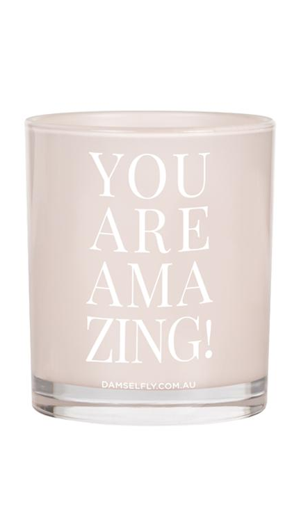 You Are Amazing Candle - Blush