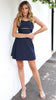 Lolita Wrap Dress - Navy