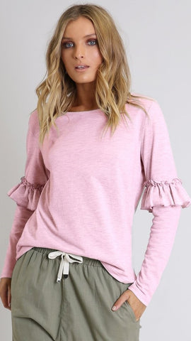 Ebony Knit Top - Pink