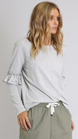 Ebony Knit Top - Grey