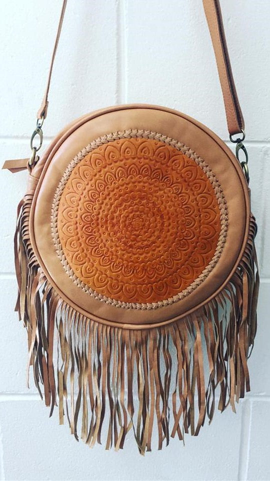 TARNIA ROUND TASSEL BAG / BACKPACK - Tan