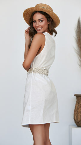 Lennie Dress - White