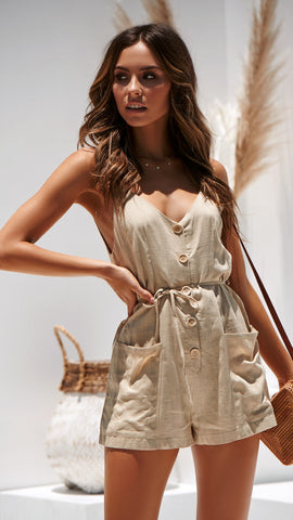 Lean on me playsuit - Natural