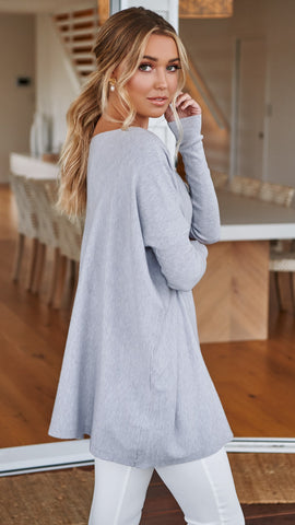 Warrior Knit Top - Grey