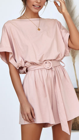 Marlow Playsuit - Blush