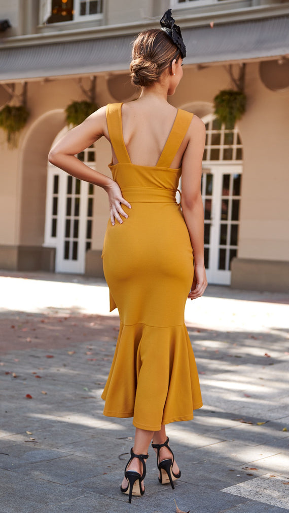 After Midnight Dress - Mustard