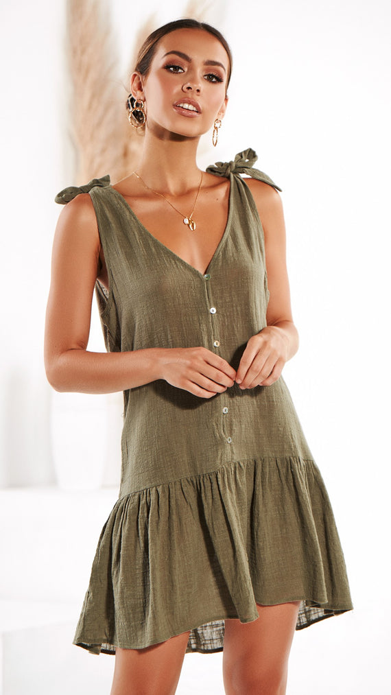 Melo Dress - Khaki