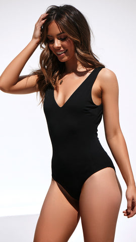 No Promises Bodysuit - Black