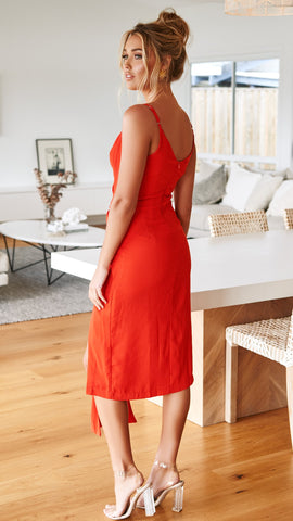 RHEMI DRESS - Red