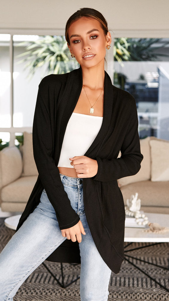 Be Cosy Cardigan - Black