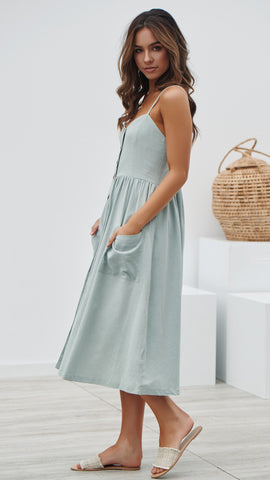 Falling in Love Dress - Sage