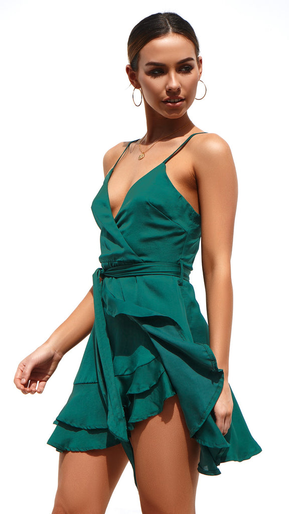 Novella Dress - Emerald Green