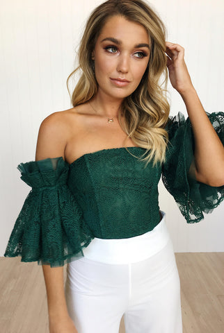Elsa Top - Forest Green