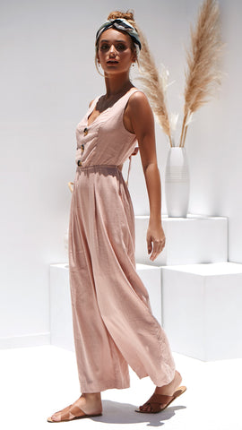 Maya Jumpsuit - Blush