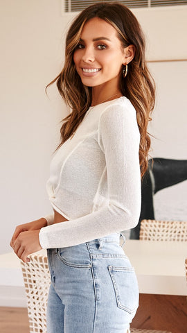 Amy Knit Top - White