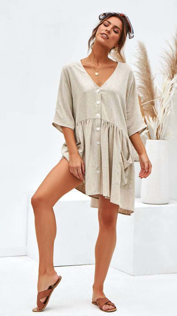 Montego Dress - Natural