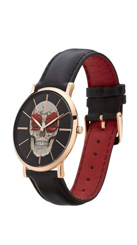 Art Series Skull Watch - Rose Gold