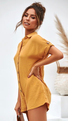 Raw Playsuit - Mustard