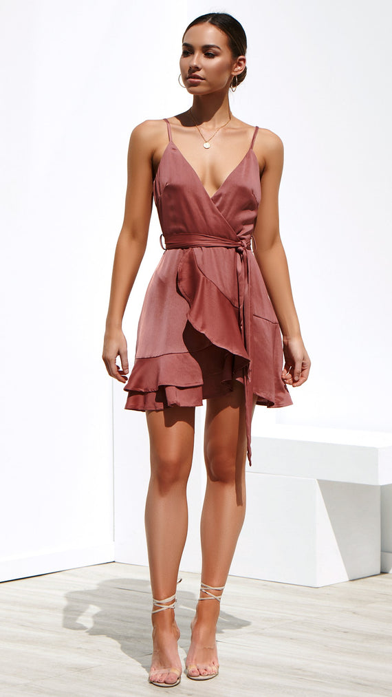 Instant Crush Dress - Dusty Rose