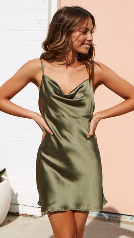 Viva la Vida Mini Dress - Khaki