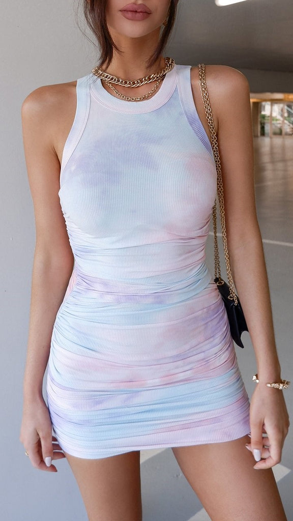 Eccentric Dress - Lilac Tie Dye