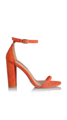 Jena Heel - Orange Suede