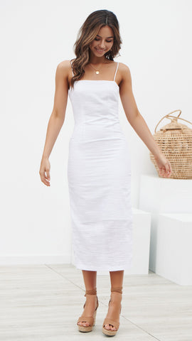 Verdi Dress - White