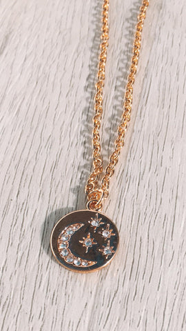 Starry Night Necklace - Gold