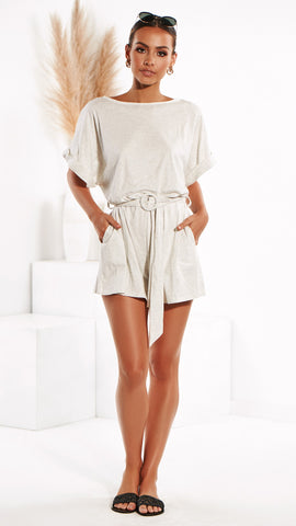 Marlow Playsuit - Grey