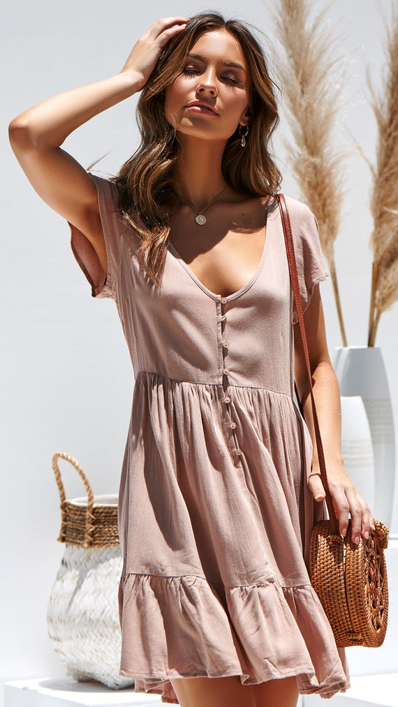 Sparrow Dress - Dusty Rose