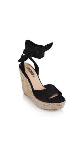 Skyros Wedges - Black Suede
