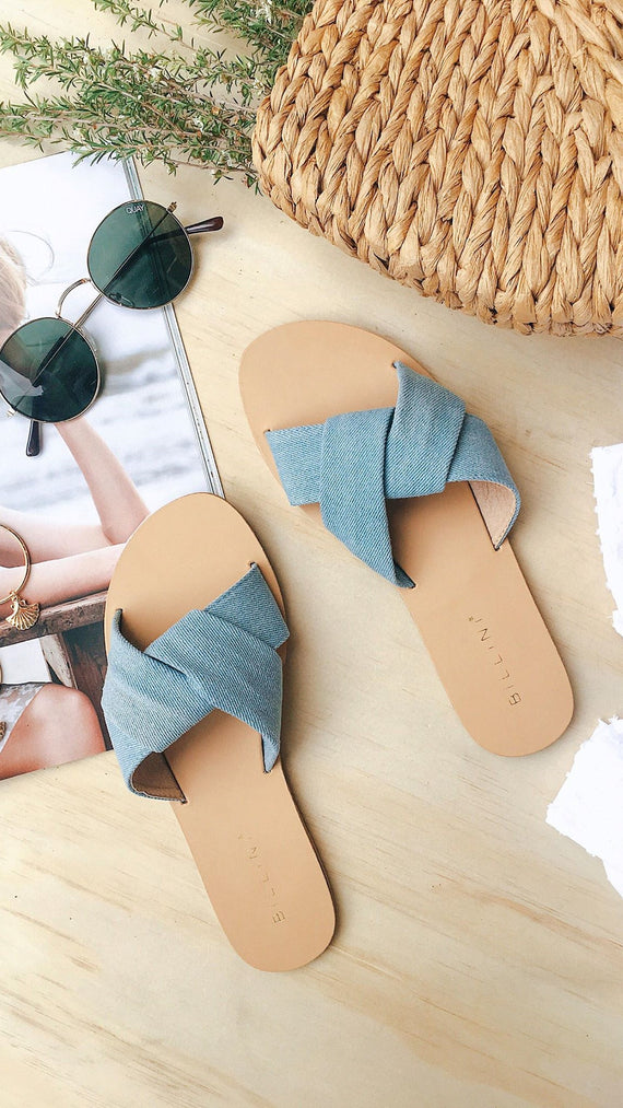 Chita Sandals - Light Denim