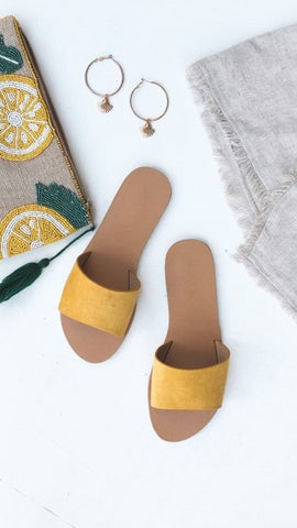 Crete Flats - yellow suede