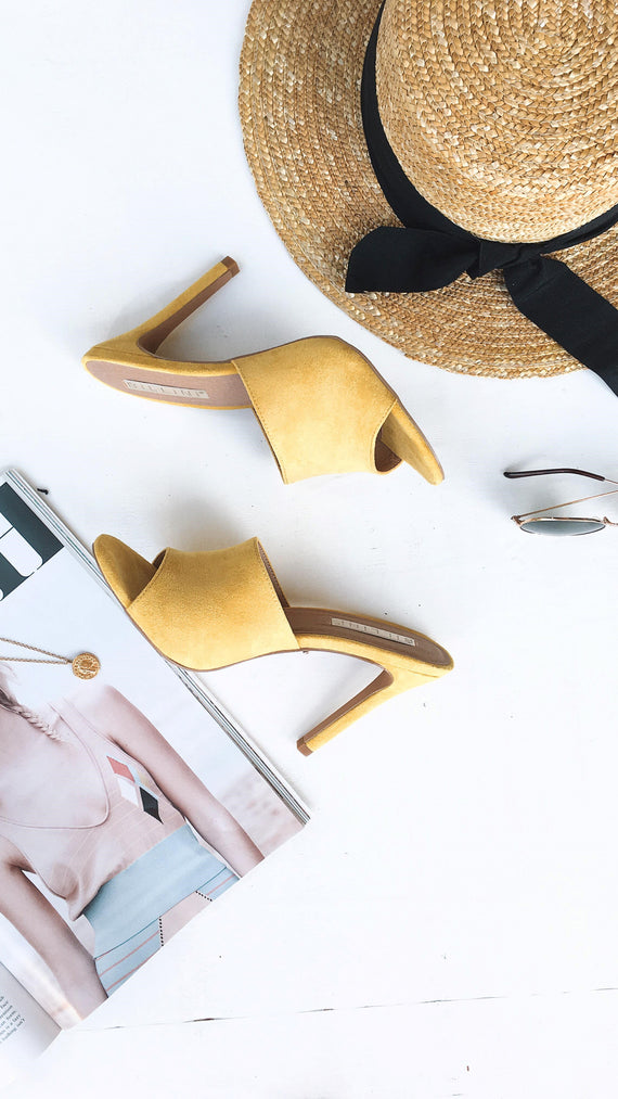 Lidia Mule - Yellow Suede