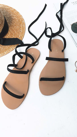 Carolla Sandals - Black Suede