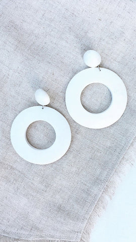 Western Earrings - White