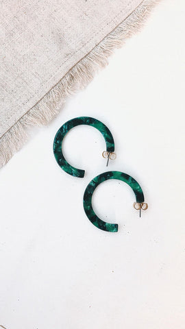 Mali Earrings - Green