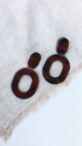 Pastini Earrings - Tort