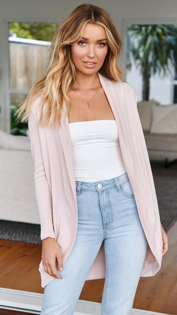 Be Cosy Cardigan - Blush
