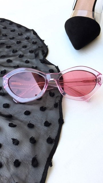 Quay - As if! - Sunglasses - Pink / Pink