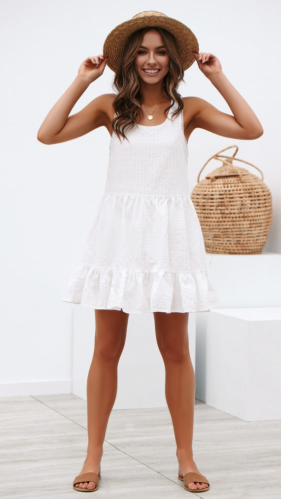 Heuston Dress - White
