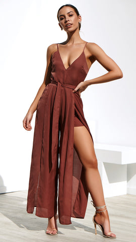 Zeal Jumpsuit - Dark Blush