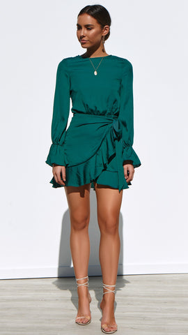 Geneva Dress - Emerald