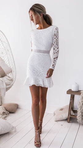 Piper Dress - White