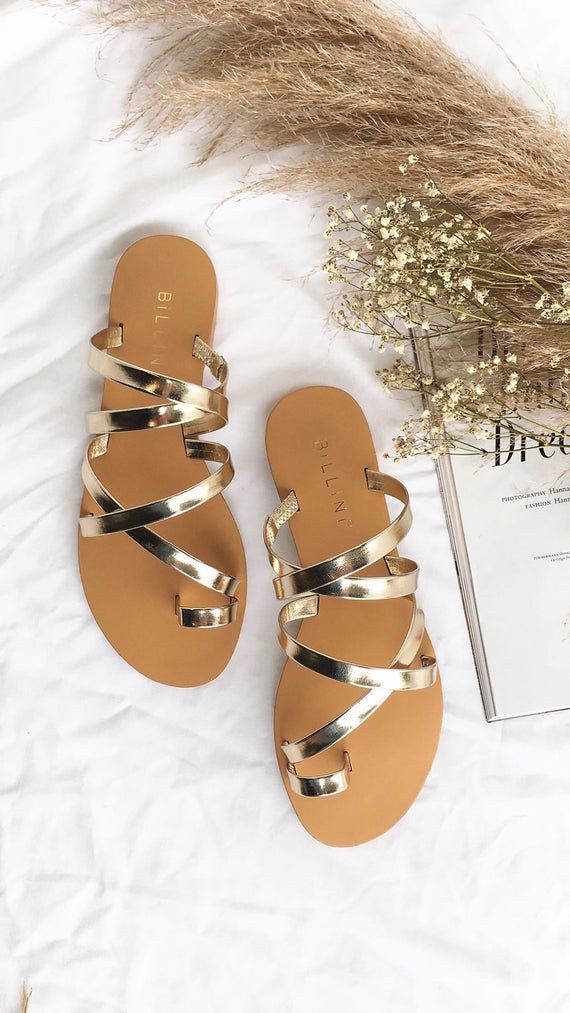 Ryla Light Gold Metallic Sandal